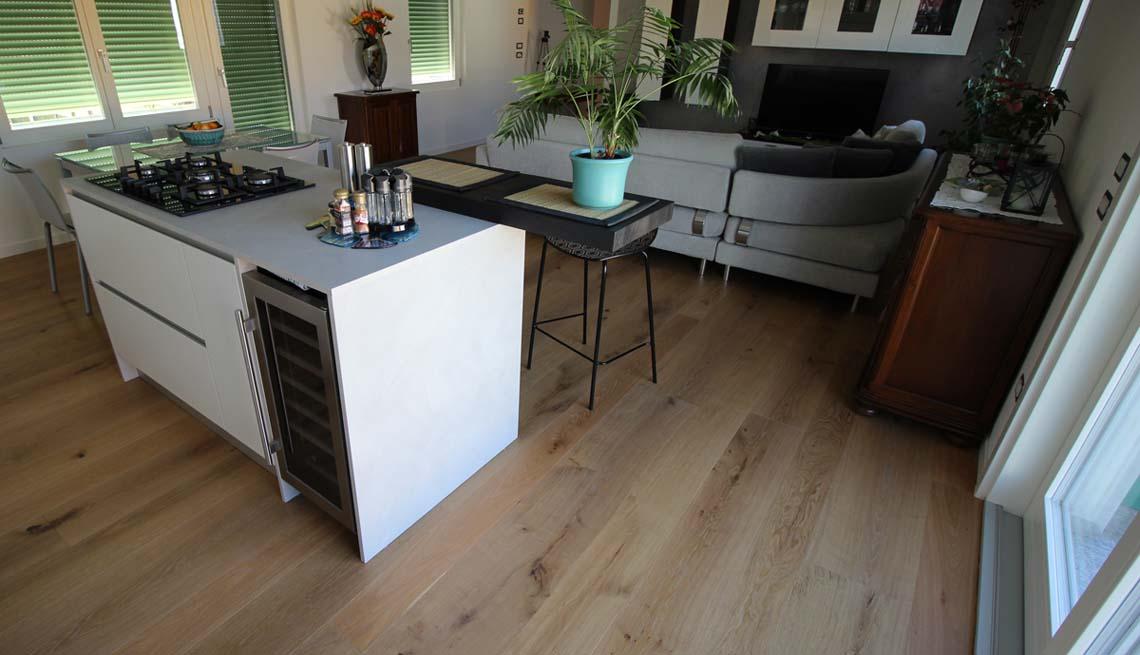Parquet in cucina - Pavimenti in legno in cucina - Lignum ...