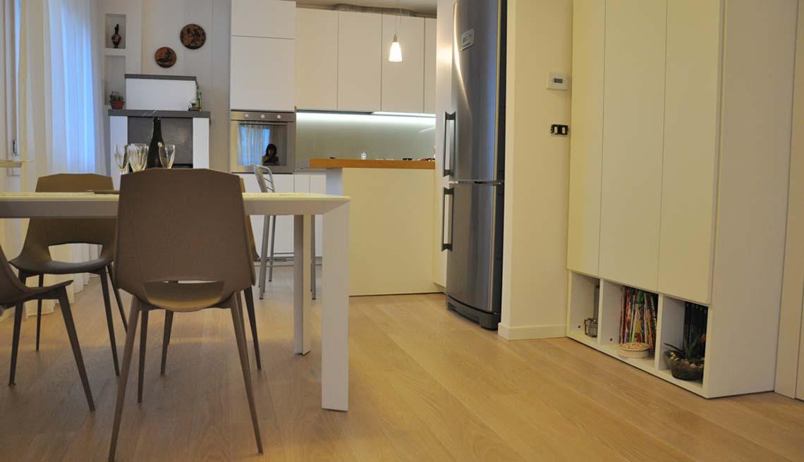 Parquet in cucina - Pavimenti in legno in cucina - Lignum Venetia