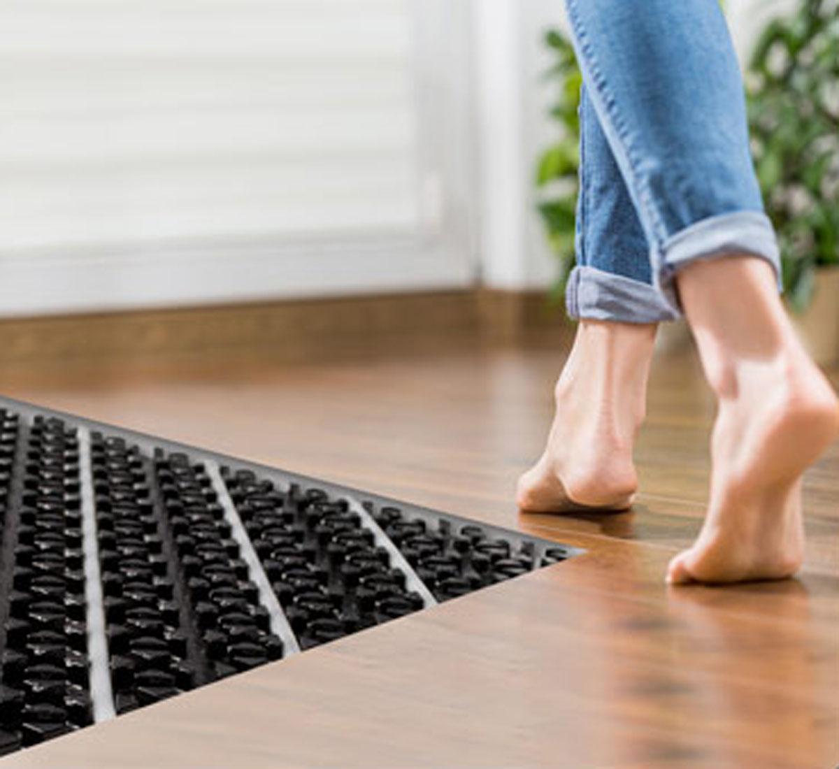 Riscaldamento a pavimento abbinato al parquet