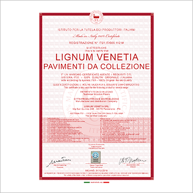 Made in Italy - 100% certificato